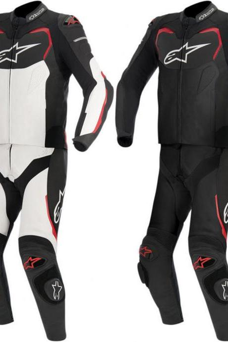 MEN Multi Motorcycle RACING Leather Suit Jacket Hump Pants For Alpinesta