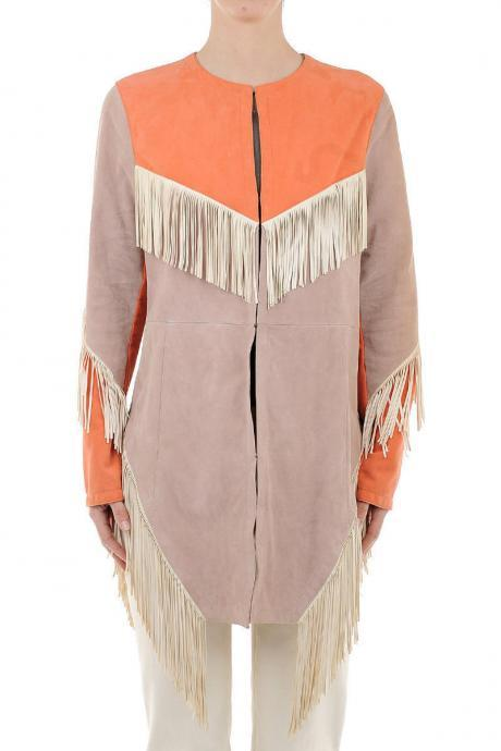 Unique Woman Western Fringed Suede Handmade Leather Jacket Coat New in All Sizes