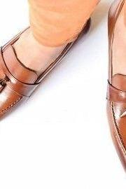 Men tan color leather Tassels moccasins shoes Men formal shoes Men leather shoes