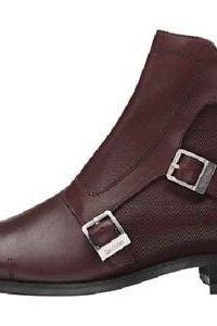 Handmade Men Triple Buckle Ankle Leather Boots, Men Monk Boots, Men Boots